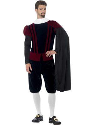 Tudor Lord Deluxe Men's Fancy Dress Costume