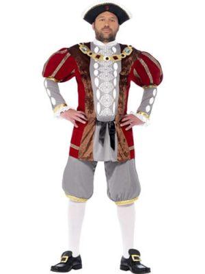 Henry VIII Deluxe Men's Fancy Dress Costume