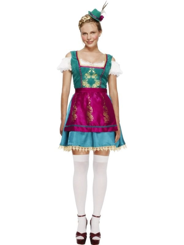 Fever Collection Dirndl Deluxe Ladies Fancy Dress Costume