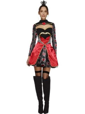 Fever Collection Queen of Hearts Ladies Fancy Dress Costume