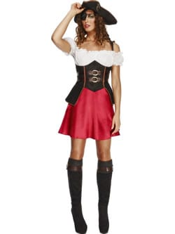Fever Collection Pirate Wench Ladies Fancy Dress Costume