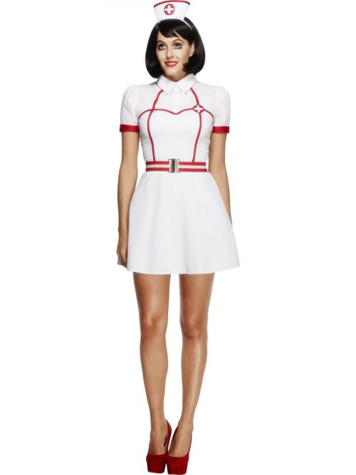 Fever Collection Bed Side Nurse Ladies Fancy Dress Costume
