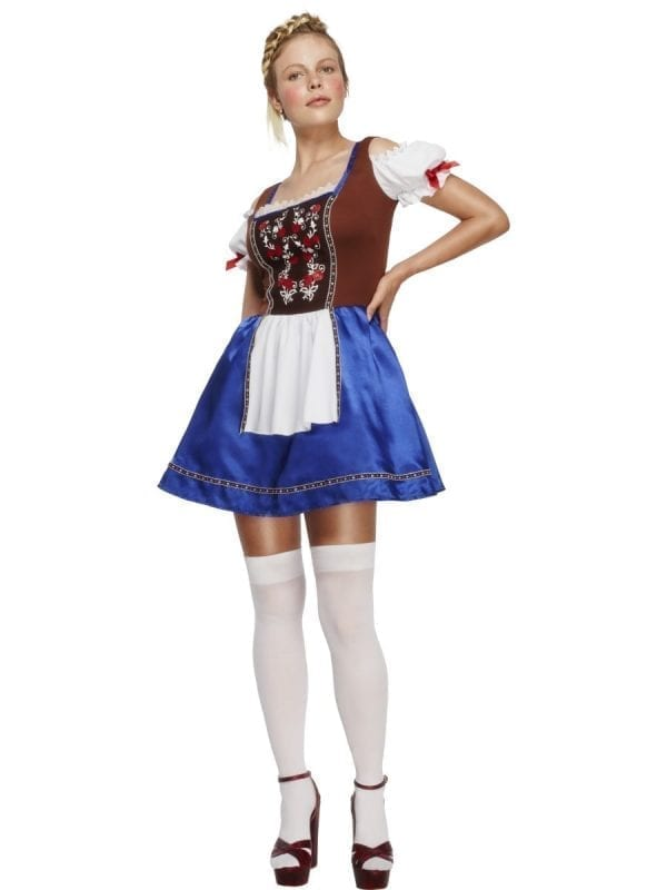 Fever Collection Dirndl Ladies Fancy Dress Costume