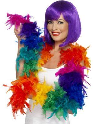 Rainbow Feather Boa 80g