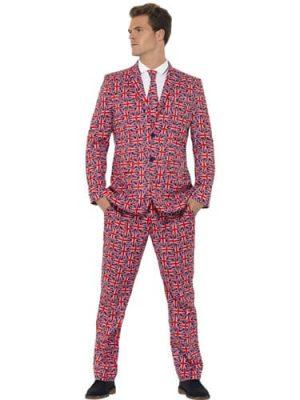 Union Jack Standout Suit Men's Fancy Dress Costume