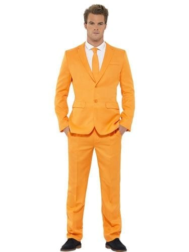 Orange ( Dumb & Dumber ) Standout Suit Men's Fancy Dress Costume