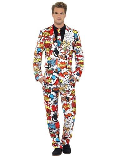 Comic Strip Standout Suit Men's Fancy Dress Costume