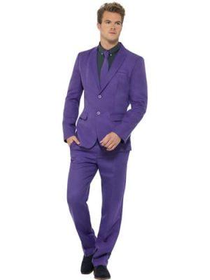 Purple Standout Suit Men's Fancy Dress Costume