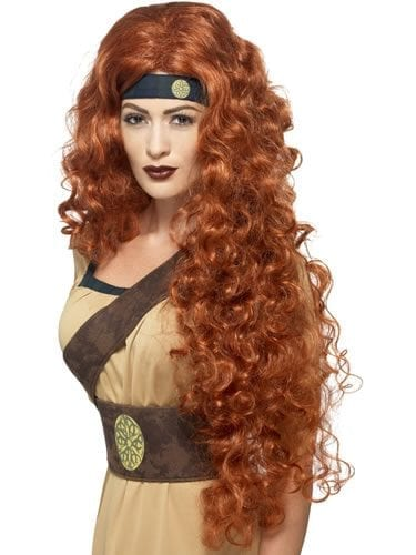 Medieval Warrior Queen Auburn Wig