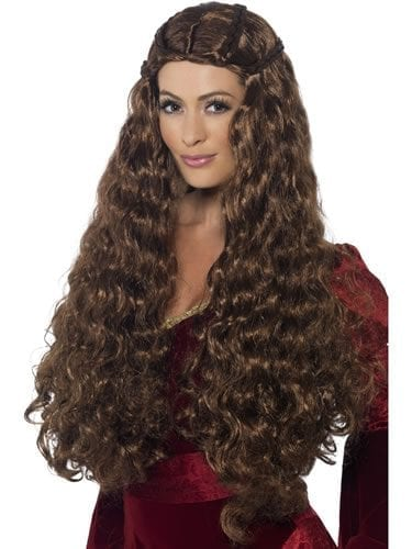 Medieval Princess Brown Wig