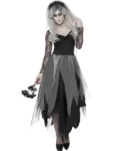 Graveyard Bride Ladies Halloween Fancy Dress Costume