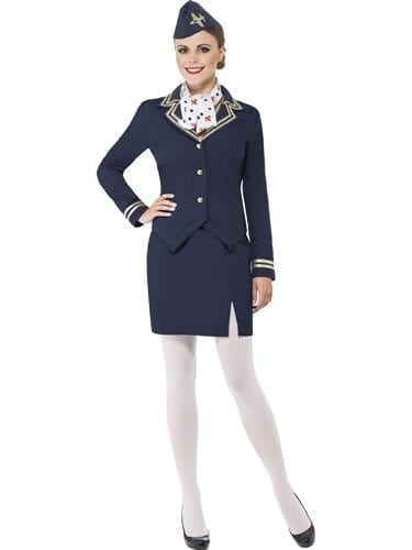 Airways Attendant Ladies Fancy Dress Costume