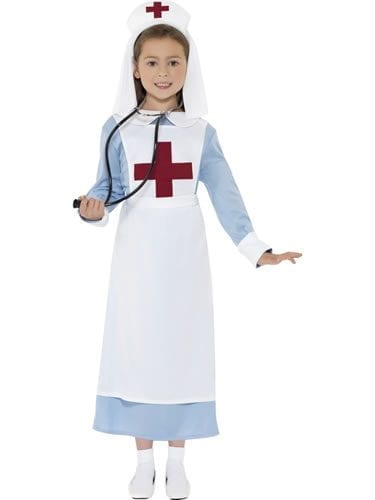 World War I Nurse Children's Fancy Dress Costume