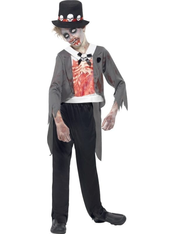 Zombie Groom Children's Halloween Fancy Dress Costume