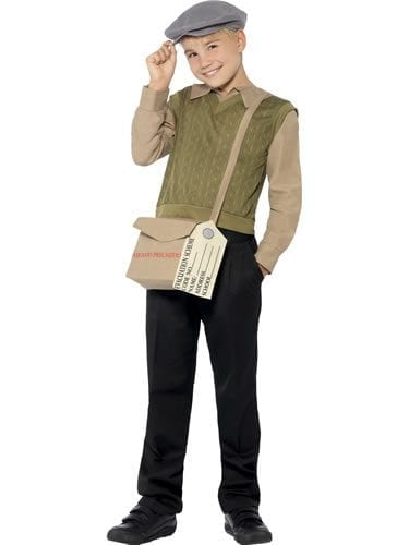 Evacuee Boy Kit Children's Fancy Dress Costume (NEW)