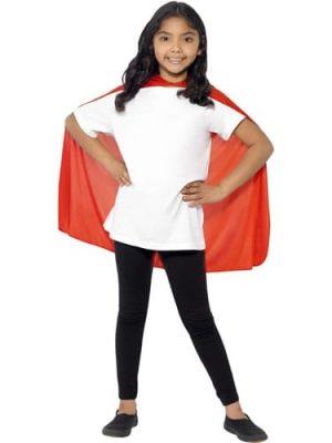Red Superhero Cape Children's Fancy Dress Costume