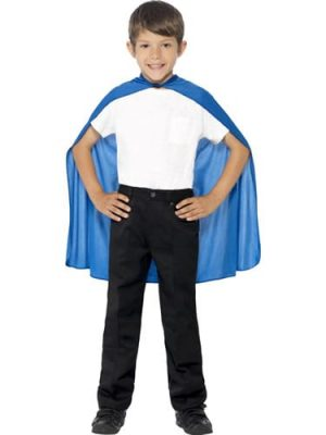 Blue Superhero Cape Children's Fancy Dress Costume