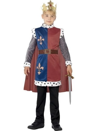 King Arthur Medieval Tunic Children's Fancy Dress Costume