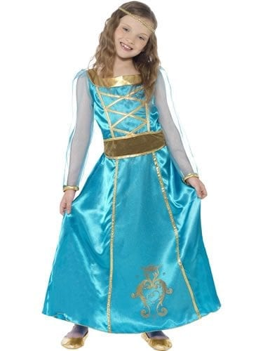 Medieval Maiden Children's Fancy Dress Costume