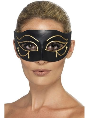 Egyptian Eye of Honus Black/Gold Eyemask