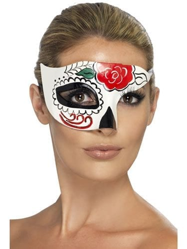 Day of the Dead Half Eye Mask