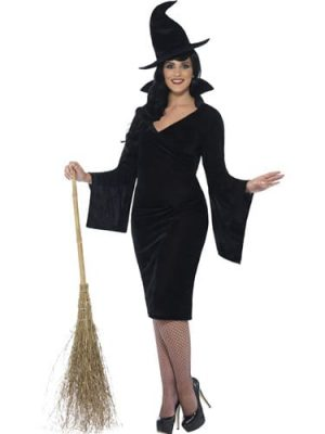 Witch Curves Ladies Halloween Fancy Dress Costume