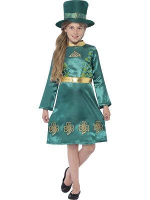 Leprechaun Girl Children's Fancy Dress Costume