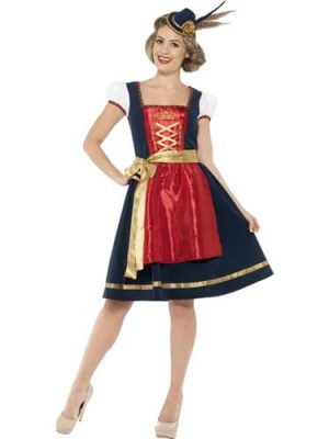 Traditional Deluxe Claudia Bavarian Ladies Fancy Dress Costume