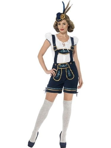 Traditional Deluxe Bavarian Ladies Fancy Dress Costume