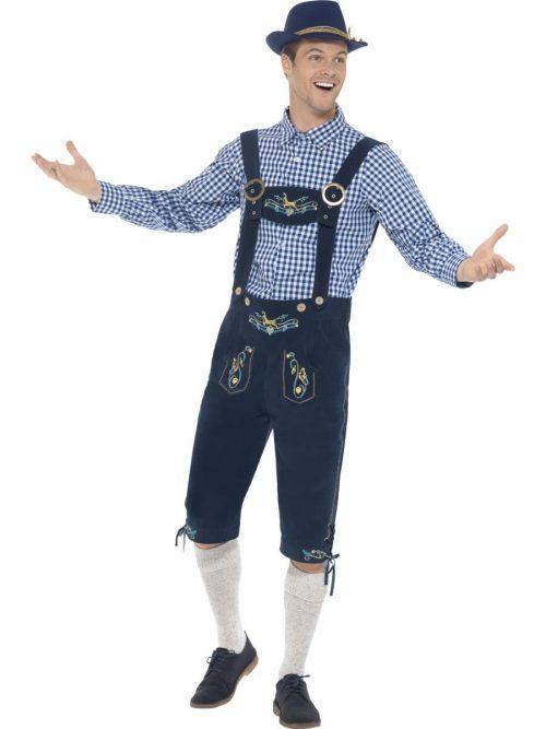 Traditional Deluxe Rutger Bavarian Men's Fancy Dress Costume