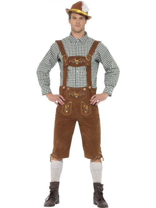 Traditional Deluxe Hanz Bavarian Men's Fancy Dress Costume