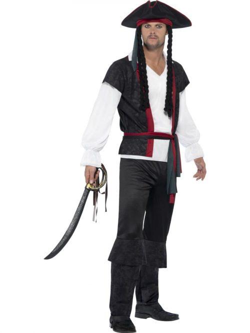 Aye Aye Pirate Captain Men's Fancy Dress Costume
