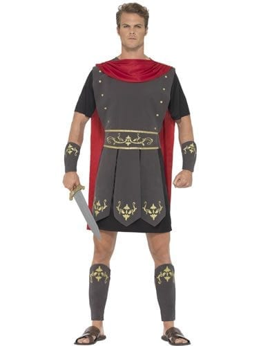 Roman Gladiator Men's Fancy Dress Costume