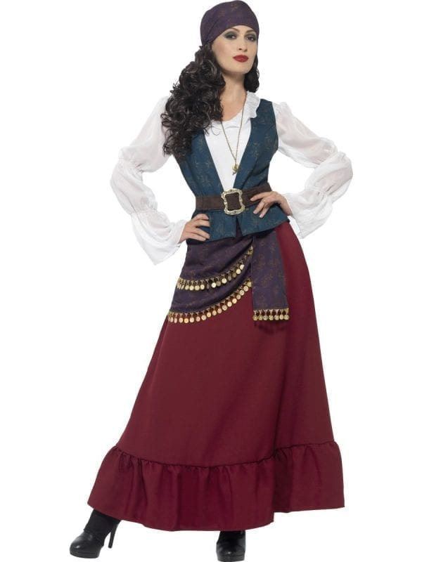Deluxe Pirate Buccaneer Beauty Ladies Fancy Dress Costume