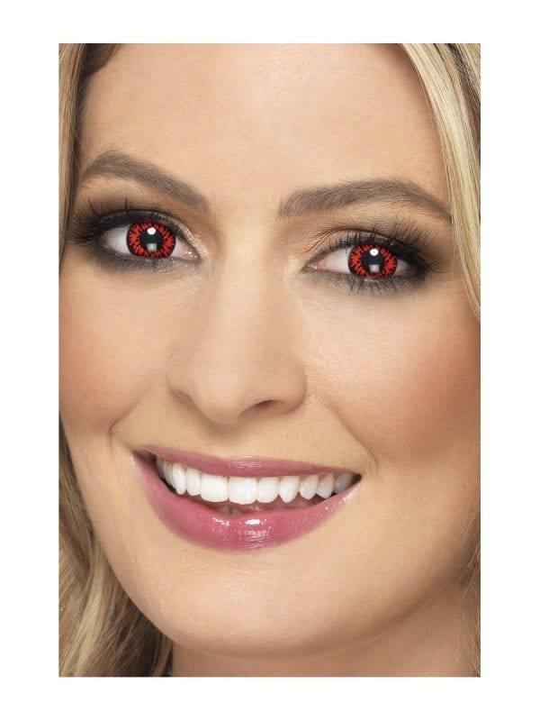 Accessoreyes Explosion Red 1 Day Wear Contact Lenses