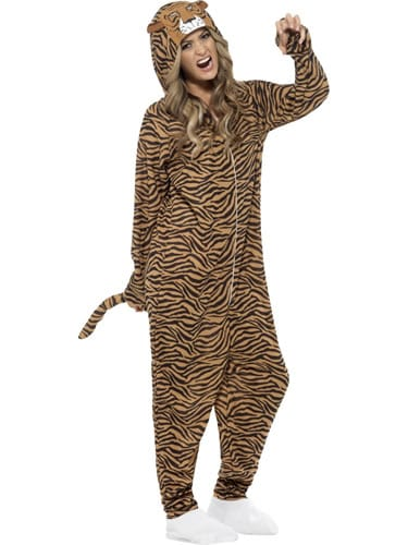 Tiger (Onesie) Unisex Adult Fancy Dress Costume