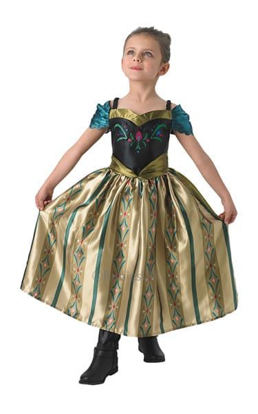 Disney's Frozen Coronation Anna Children's Fancy Dress Costume