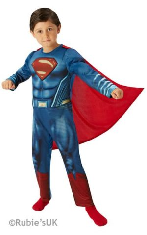 Superman Dawn of Justice Deluxe Super Hero Childrens Fancy Dress