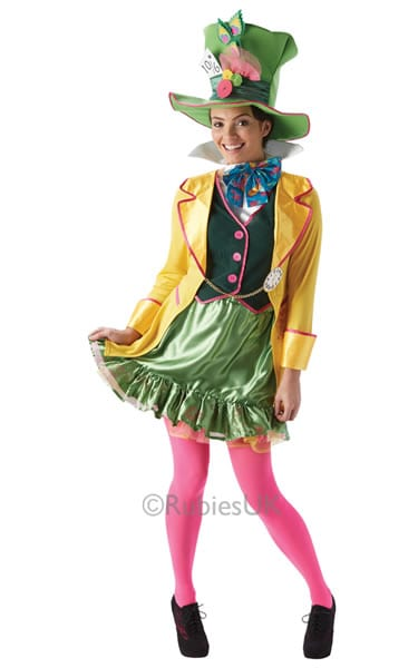 Disney's Alice in Wonderland Mad Hatter Ladies Fancy Dress Costume
