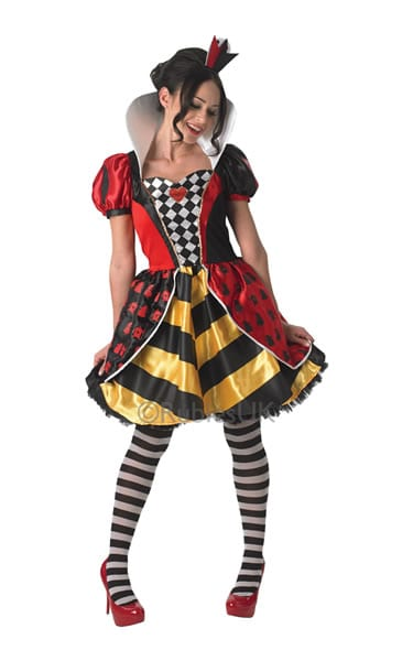 Disney's Alice in Wonderland Sassy Red Queen Ladies Fancy Dress