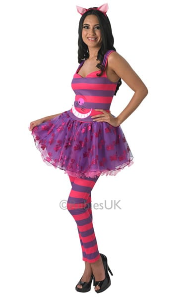 Disney's Alice in Wonderland Cheshire Cat Ladies Fancy Dress Costume