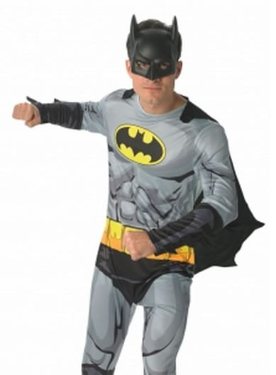 Batman Super Hero Men's Fancy Dress Costume
