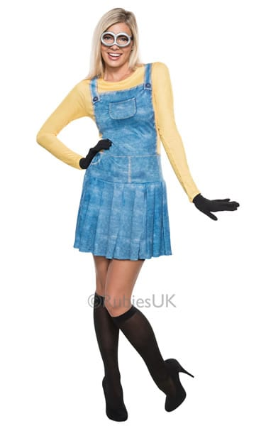 Despicable Me 2 Minion Girl Ladies Fancy Dress Costume (NEW)