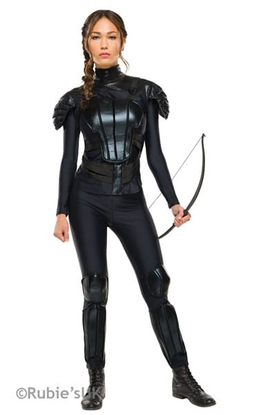 The Hunger Games Katniss Rebel Ladies Fancy Dress Costume