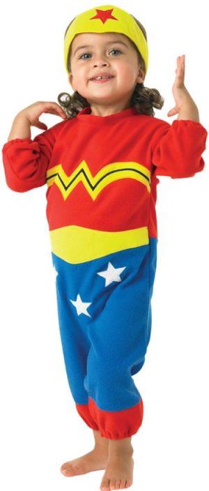 Wonder Woman Super Hero Rompersuit Childrens Fancy Dress Costume