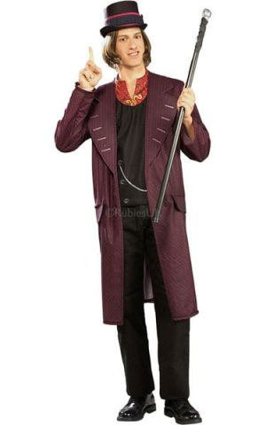 Charlie & The Chocolate Factory Willy Wonka Men's Fancy Dress