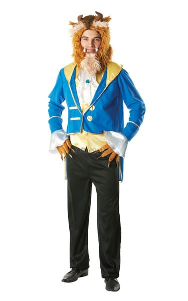 Disney's Beauty and The Beast Beast Mens Fancy Dress Costume