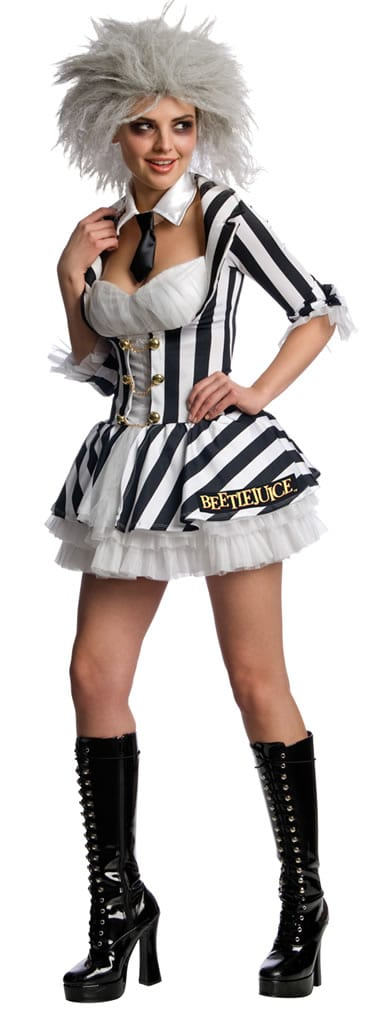 Secret Wishes Beetlejuice Ladies Fancy Dress Costume