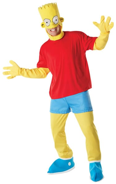 The Simpsons Bart Simpson Mens Fancy Dress Costume