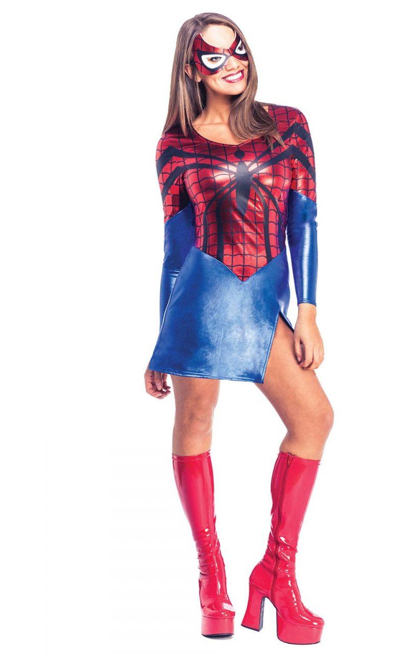 Marvel Spider-Girl Ladies Super Hero Fancy Dress Costume